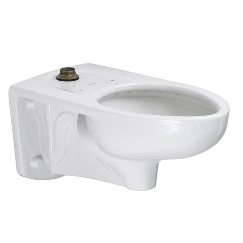 American Standard 3351.101.020 Afwall Universal Top Spud Floor Mount Toilet Bowl with Everclean - White