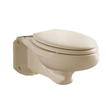 American Standard 3402.016.021 Glenwall Elongated Wall-Mounted Toilet Bowl Only - Bone