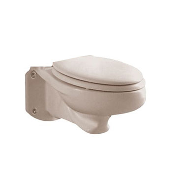 American Standard 3402.016.222 Glenwall Elongated Wall-Mounted Toilet Bowl Only - Linen