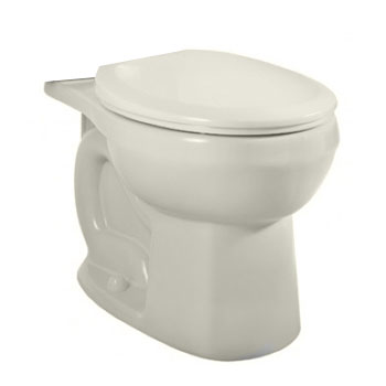 American Standard 3708.216.222 H2Option Siphonic Dual Flush Round Toilet Bowl Only - Linen