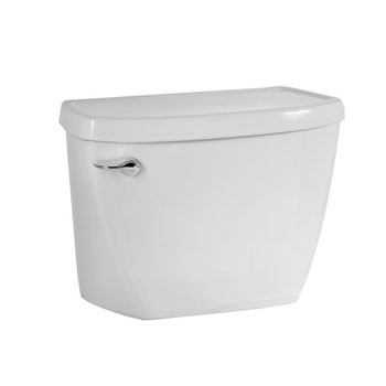 American Standard 4142.016.020 Flushometer Toilet Tank Complete with Coupling Components - White