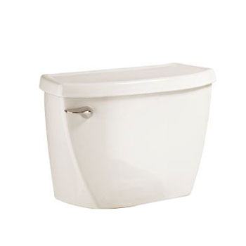 American Standard 4142.016.222 Flushometer Toilet Tank Complete with Coupling Components - Linen