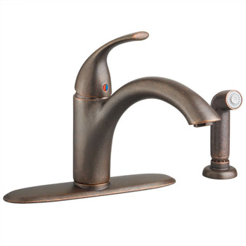 American Standard 4433.001.224 Quince Single Control Kitchen Faucet with Side Spray - Oil Rubbed Bronze