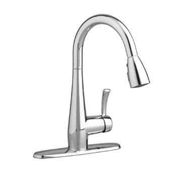 American Standard 4433.300.002 Quince High Arc Kitchen Faucet with Pull Down Spray - Chrome