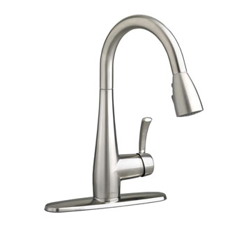 American Standard 4433.300.075 Quince High Arc Pull Out Kitchen Faucet - Stainless Steel