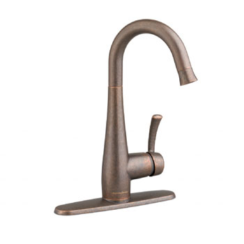 American Standard 4433.410.224 Quince High Arc Bar Faucet with Pull Down Spray - Oil Rubbed Bronze