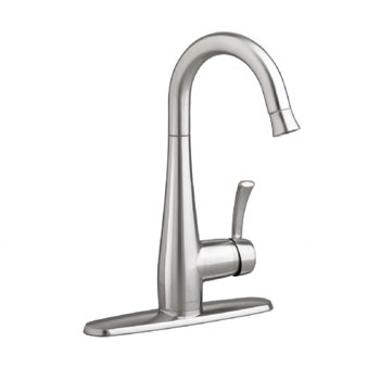 American Standard 4433.410.075 Quince High Arc Bar Faucet with Pull Down Spray - Stainless Steel