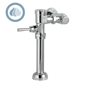 American Standard 6047.121.002 FloWise Exposed Manual Flushometer for 1-1/2 inch  Top Spud Bowls - Chrome