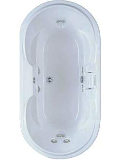 Aquatic AI7236CLO Luxury Castaway Oval - White