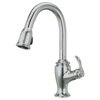 Artisan AF-320-SN Premium Single Handle Pull-Out Kitchen Faucet - Satin Nickel