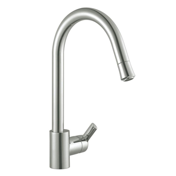 Artisan AF-620-SN Premium Single Handle Pull-Out Kitchen Faucet - Satin Nickel