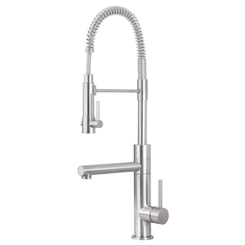 Artisan AF-660-SN Premium Single Handle Pull-Out Kitchen Faucet with Potfiller - Satin Nickel