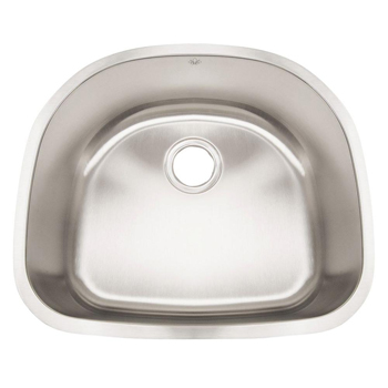 Artisan AR2321-D9 Premium 16 Gauge 23-1/2 inch  x 21 inch  x 9 inch  Single Bowl Undermount Kitchen Sink - Stainless Steel