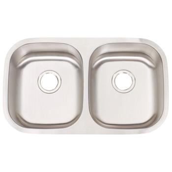 artisan mh3218 d8 8 manhattan 18 gauge 30 artisan mh3218 d8 8 manhattan 18 gauge 30   x 17 3 4   x 8   double      rh   faucetdepot com
