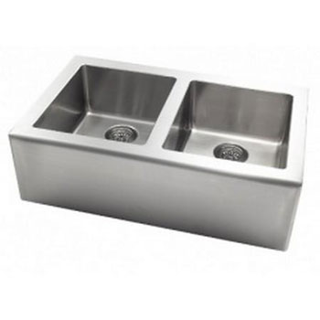 Astracast AP20XXUSUM APRON Undermount Double Bowl Kitchen Sink - Stainless Steel