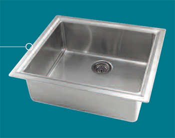 Astracast AS-MR10XXUSTM Minimum Radius 1.0B Premium Stainless Steel Self Rimming Sink - Stainless Steel