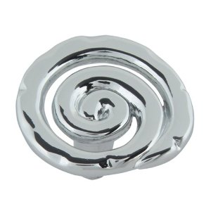 Atlas Homewares 140-CH Signature Single Scroll Knob - Polished Chrome