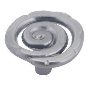 Atlas Homewares 140-P Signature Single Scroll Knob - Pewter