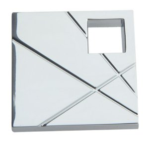 Atlas Homewares 251L-CH The Moderns Collection Modernist Square Knob Left - Polished Chrome
