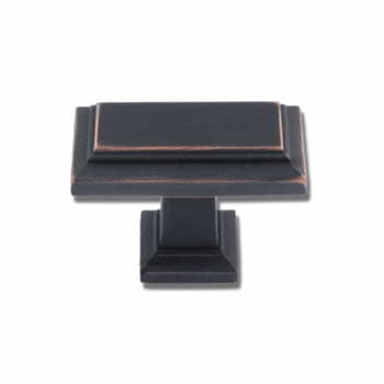 Atlas Homewares 290-VB 1-1/2 Sutton Rectangle Knob - Venetian Bronze