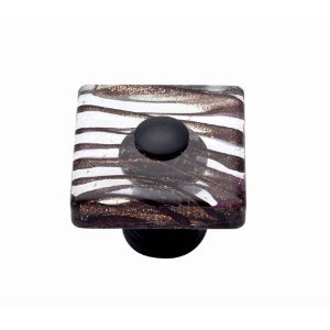 Atlas Homewares 3205-O Dream Glass Milky Way Square Knob - Oil Rubbed Bronze