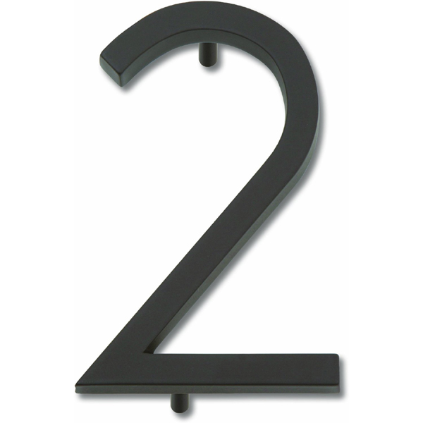Atlas Homewares AVN2-O Modern Avalon 4.5-Inch No. 2 House Number - Oil Rubbed Bronze
