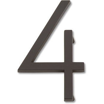 Atlas Homewares AVN4-O Modern Avalon 4.5-Inch No. 4 House Number - Oil Rubbed Bronze