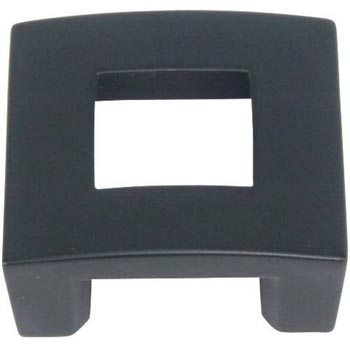 Atlas Homewares 255-BL 1-3/4-Inch The Moderns Collection Centinel Square Knob - Black