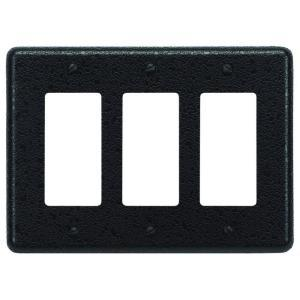 Atlas Homewares OWPTR-O Olde World Triple Rocker Switch Plate - Aged Bronze