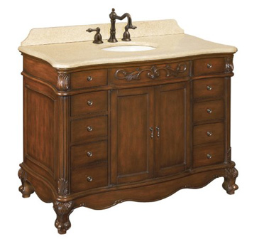 Belle Foret 80003R Single Sink Bathroom Vanity - Dark Cherry