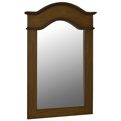 Belle Foret BF80034 40 in x 30 in Framed Vanity Portrait Mirror - Aged Walnut