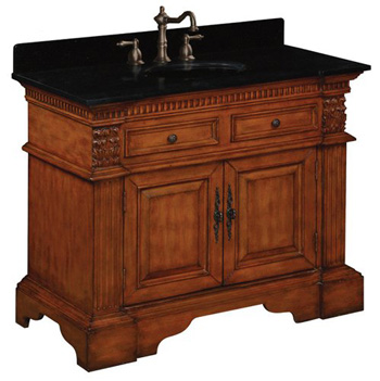 Belle Foret BF80040R Single Basin Bathroom Vanity - Vintage Oak