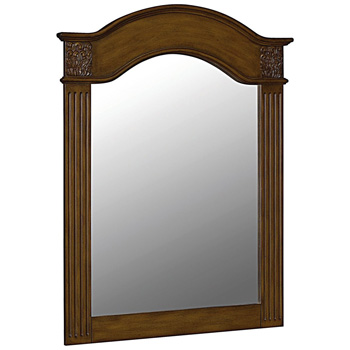 Belle Foret BF80041 40 in x 30 in Framed Carved Portrait Mirror - Vintage Oak
