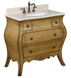 Belle Foret 80067R Single Basin Bathroom Vanity - Light Brown