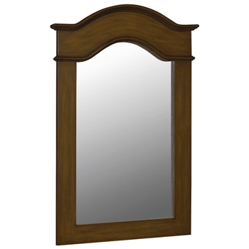 Belle Foret BF80070 Framed Vanity Mirror - Aged Walnut