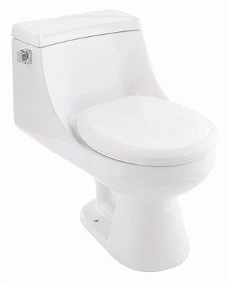 Belle Foret BFCTRFBK One Piece Round Front Toilet - Black (Pictured in White)