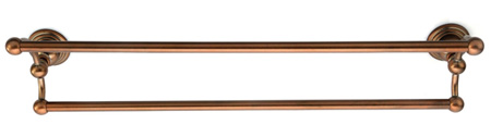 Belle Foret BFNDTBTB 24 In Double Towel Bar - Tumbled Bronze