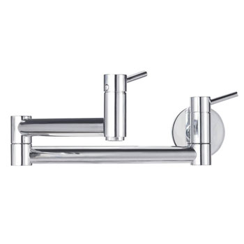 Blanco 441195 Cantata Wall Mounted Pot Filler - Satin Nickel (Pictured in Chrome)