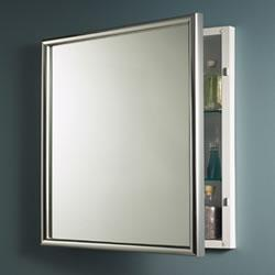 NuTone 533124X Harmony 24 in. W Recessed Mirrored Medicine Cabinet - Chrome