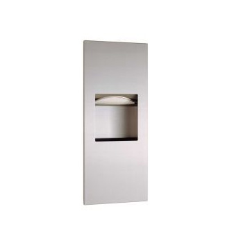 Bobrick B-36903 TrimLineSeries Recessed Paper Towel Dispenser/Waste Receptacle - Satin Stainless