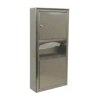 Bobrick B-3699 ClassicSeries Surface-Mounted Paper Towel Dispenser/Waste Receptacle - Satin Stainless