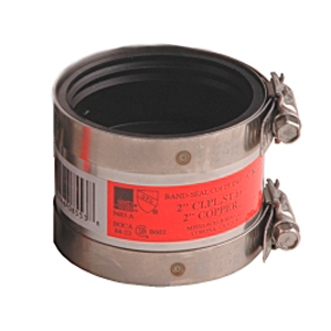 1 in Cast Iron or Plastic or Steel to 1 in Copper Band-Seal Specialty Coupling