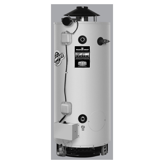 Bradford White D100l199e3n 100 Gallon Commercial Energy Saver Gas Electronic Ignition Water Heater Faucetdepot Com