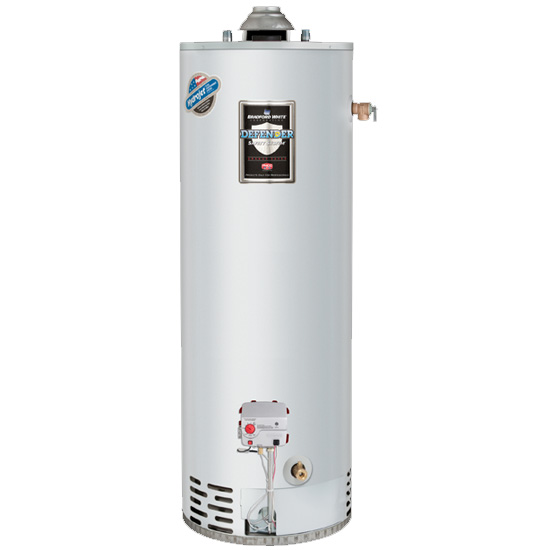 Bradford White RG250T6X 50 Gallon Residential Propane Gas Atmospheric Vent Water Heater