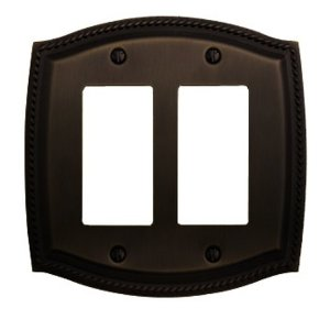 Baldwin 4797.112.CD Rope Design Double GFCI Switchplate - Venetian Bronze