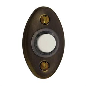 Baldwin 4852.102 Oval Bell Button - Oil Rubbed Bronze