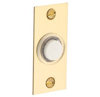 Baldwin 4853.150 Door Bell with Lighted Button - Brass