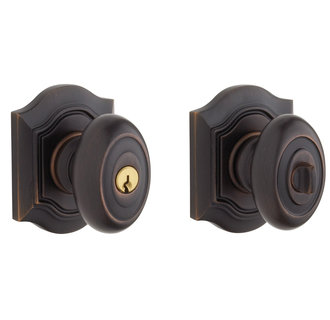 Baldwin 5237.112.ENTR Bethpage Style Keyed Entry Door Knob Set with Bethpage Rosette the Emergency Exit Function - Venetian Bronze