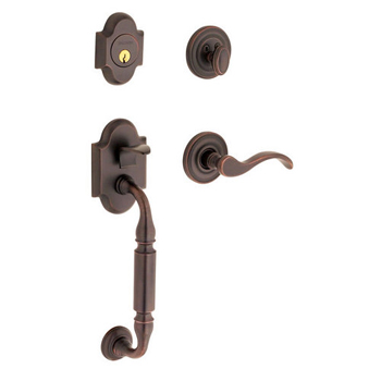 Baldwin 85305.112.LFD Left Handed Canterbury Dummy Handleset with Wave Interior Lever - Venetian Bronze