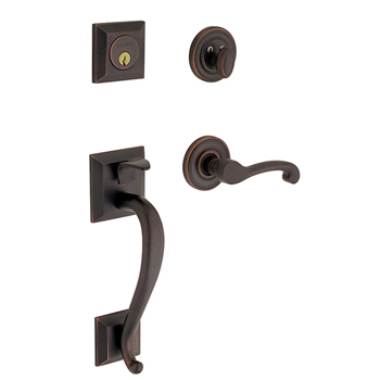Baldwin 85320.102.LENT Madison Sectional Trim Left Hand Handleset with Classic Lever - Oil Rubbed Bronze